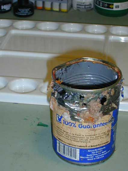 mauled can of dog food